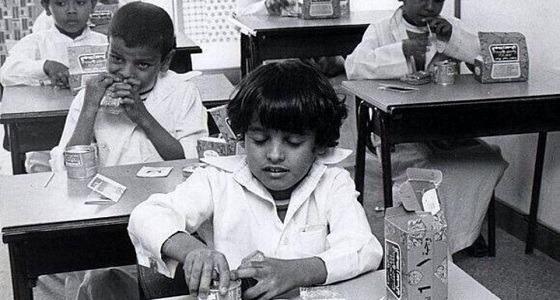 بالصور.. وجبة الطالب قبل 40 عاما بالمملكة