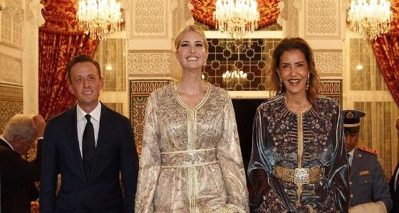 بالصور.. إيفانكا ترامب تتألق بالزي المغربي