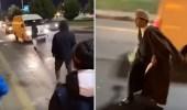 بالفيديو..الإطاحة بـ 4 شبان اعترضوا المركبات في تبوك