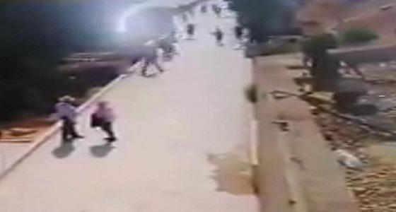 فيديو يوثق لحظة هجوم «الداعشي» على السياح في مدينة جرش الأردنية