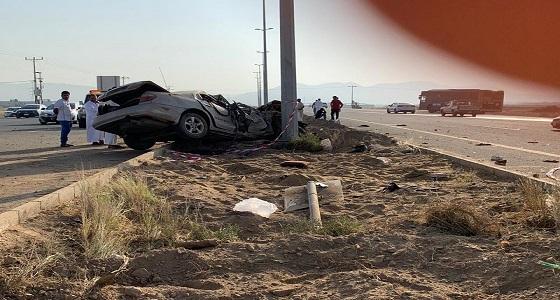 بالصور.. حادث مروع على طريق بأحد المسارحة يسفر عن وفاة وإصابة 4 أشخاص