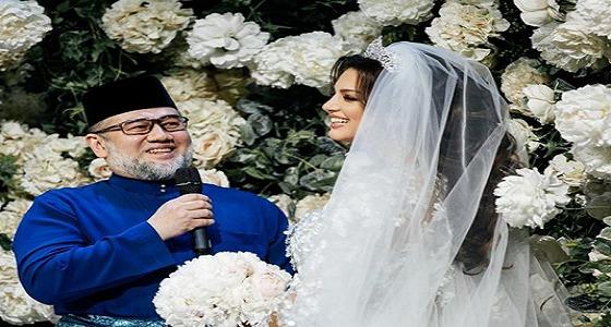 فيديو مسرّب لحفل زفاف ملك ماليزيا وملكة جمال موسكو