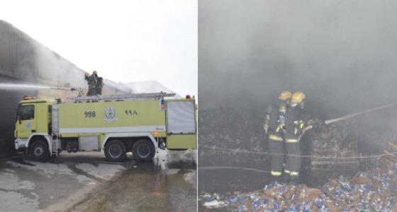 مدني الرياض يسيطر على حريق مستودعين بالدار البيضاء صحيفة صدى