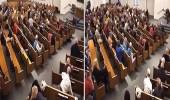 بالفيديو..مسلح يقتحم كنيسة بأمريكا ويلقى حتفه برصاصة قاتلة