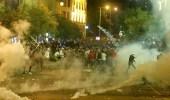 جرحى وحرق خيام..مواجهات عنيفة بين اللبنانيين وأنصار حزب الله