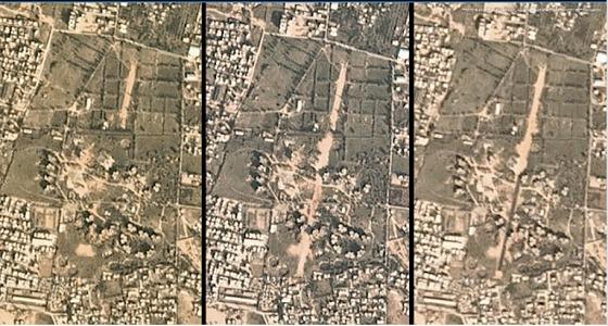 صورة جوية لمدرج الطائرات التركي بين المنازل السكنية في طرابلس