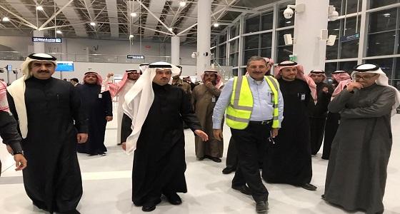 بالصور..نائب رئيس المطارات بعرعر يشرف على أول رحلة للخطوط الجوية رقم sv1229