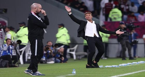 إيرفي رينارد: مباراة قطر كانت صعبة واستطعنا الحد من خطورتهم