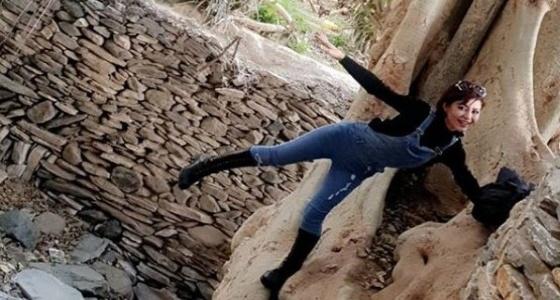 بالصورة.. مغامرة «لورين عيسى» في الباحة تثير الجدل