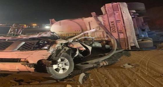 سحق سيارة بسائقها في حادث مروع ببيشة