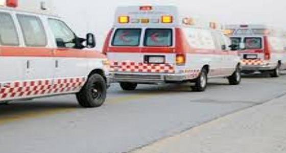 حادث اصطدام بين مركبتين على طريق «مدركة» بمحافظة الجموم