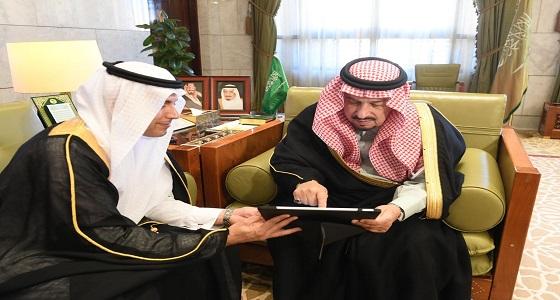 سمو الأمير فيصل بن بندر يستقبل مدير مركز المعلومات الوطني ويدشن مرصد بيانات الإمارة