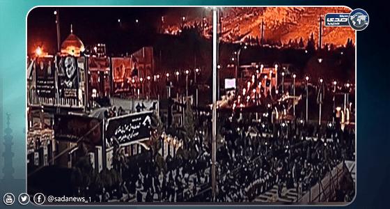 بالفيديو..مراسم دفن قاسم سليماني بعد الهجوم الإيراني على أمريكا فجرًا