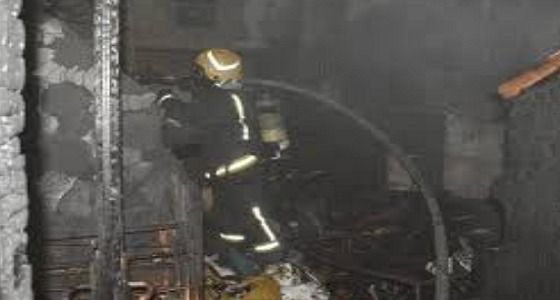 بالصور.. إصابات إثر اندلاع حريق في شقة بجدة