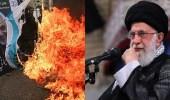 بالصور..الإيرانيون يردون على خطاب خامنئي بإحراق صور سليماني