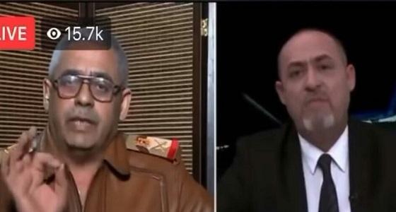 بالفيديو.. وصلة سباب وشتائم بين لواء عراقي ومحلل سياسي على الهواء