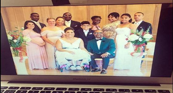 شاهد.. عروس مشلولة تفاجيء الحضور يوم زفافها