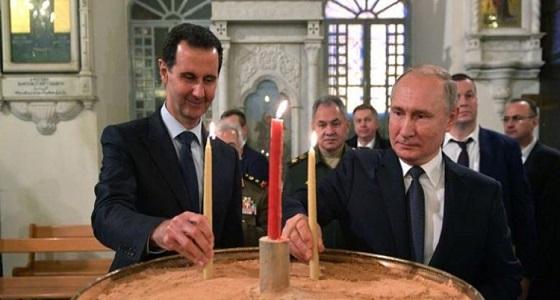 «بوتين» يقترح مازحاً على «الأسد» دعوة «ترامب» لزيارة سوريا