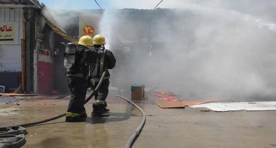 اندلاع حريق داخل محل تجاري في جدة