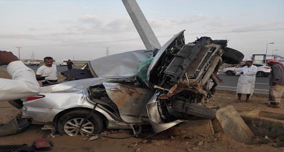 3 حالات وفاة وإصابة إثر حادث مروري بإسكان الحصمة