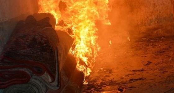 إصابة سيدة في حريق شقة سكنية بمحافظة الخرمة
