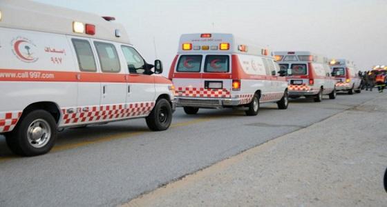 إصابات في حادث اصطدام 3 مركبات بالعاصمة المقدسة