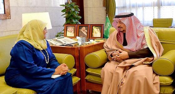 سمو أمير الرياض يستقبل وكيل الأمين العام للأمم المتحدة