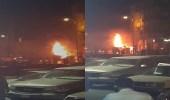 بالفيديو..حريق صراف الأهلي بنجران