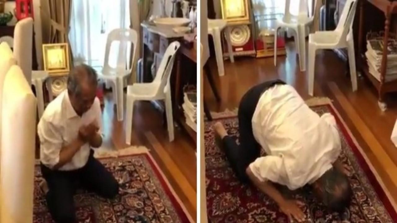 بالفيديو.. خليفة «مهاتير محمد» يسجد شكرًا لله بعد اختياره