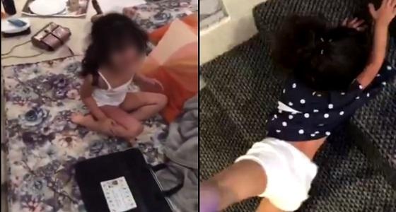 خادمة تُعذب طفلة وتسحلها: «أنتم عرب تستاهلون» (فيديو)