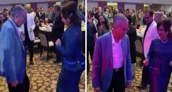 شاهد مهاتير محمد يبحث عن قيادة العالم الإسلامي في حفل راقص مع حفيدته
