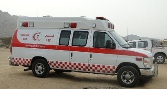 إصابة شخص في اصطدام شاحنة ومركبة بالعاصمة المقدسة