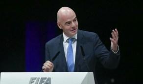 رئيس فيفا: صحة الإنسان أهم وتأجيل المباريات وارد حال تفشي «كورونا »