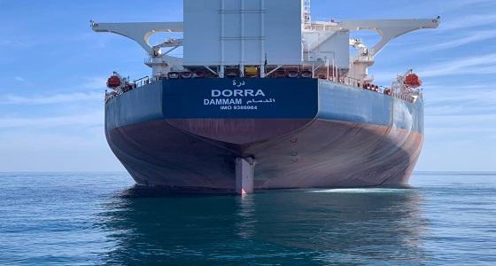 انضمام ناقلة نفط عملاقة للأسطول البحري (صور)