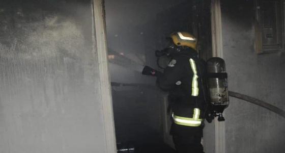 إصابة شخص في حريق شقة سكنية بجدة