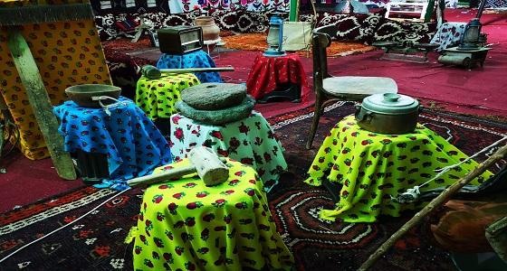 الخيمة التراثية تستقبل زوارها برائحة أجدادنا بمهرجان الطيور الدولي