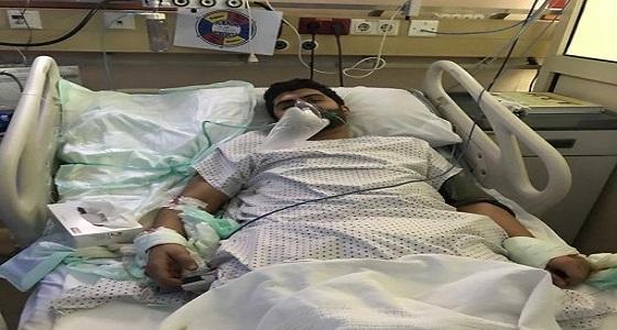 بالصور.. مواطن يتعرض لحادث أليم بسبب حفرة بجوار مستشفى الملك فهد