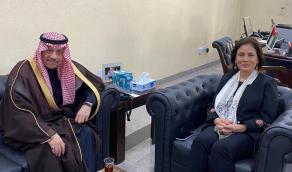 سفير المملكة لدى الأردن يلتقي وزيرة الطاقة والثروة المعدنية الأردنية