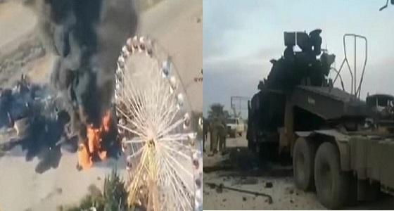 بالفيديو.. احتراق دبابة تركية في سوريا وتدميرها بالكامل في لحظات