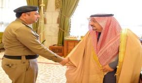 سمو أمير منطقة الرياض يستقبل مدير شرطة المنطقة ونائب قائد القوات الخاصة لأمن الطرق