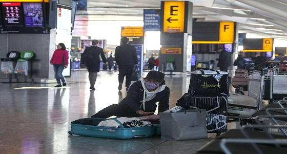 احتجاز ركاب 8 طائرات بمطار بلندن بعد الإشتباه بفيروس كورونا