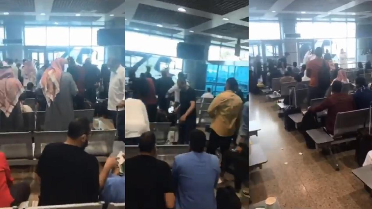 بالفيديو.. لحظة توافد سعوديين على مطار القاهرةاستعداداً للعودة إلى للمملكة