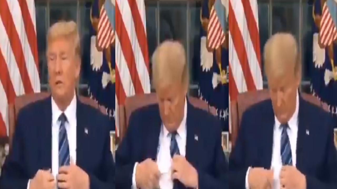 «ترامب» يتلفظ بكلمة وضيعة على الهواء (فيديو)