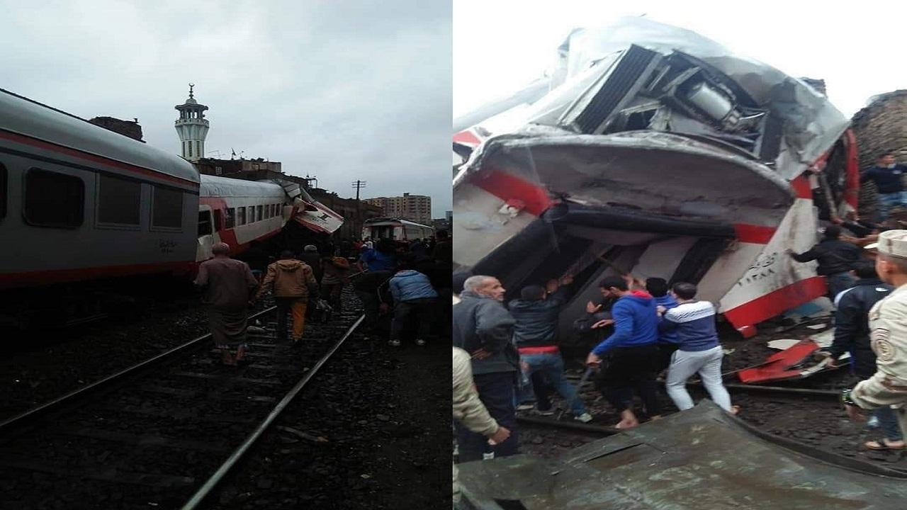 تصادم قطاري ركاب في مصر