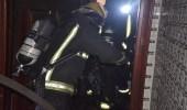 احتجاز أسرة داخل شقة إثر اندلاع حريق في جدة