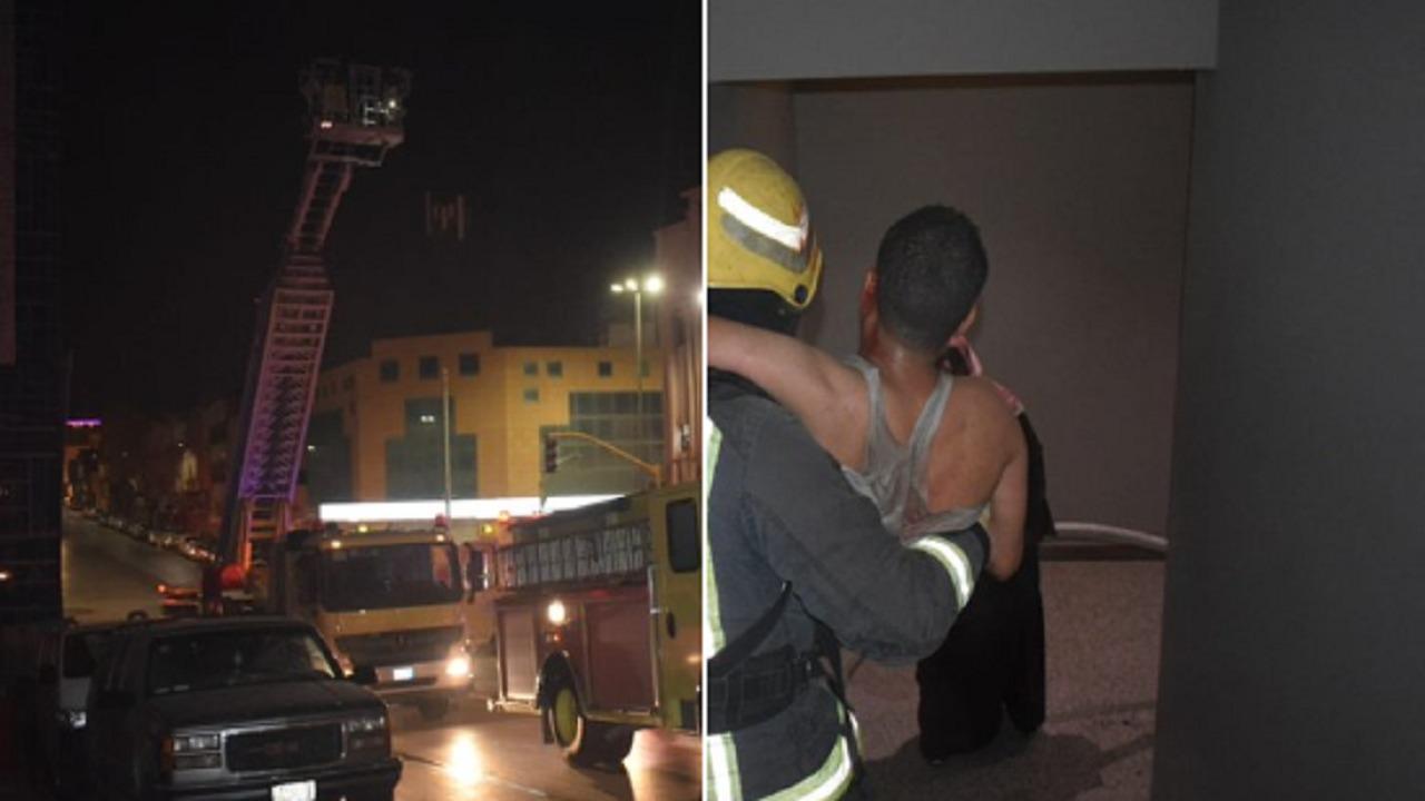 إصابة 6 أشخاص إثر اندلاع حريق في شقق فندقية ببريدة
