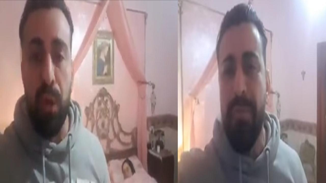شاب يدخل في نوبة بكاء مؤلمة ويوثق وفاة شقيقته بكورونا (فيديو)