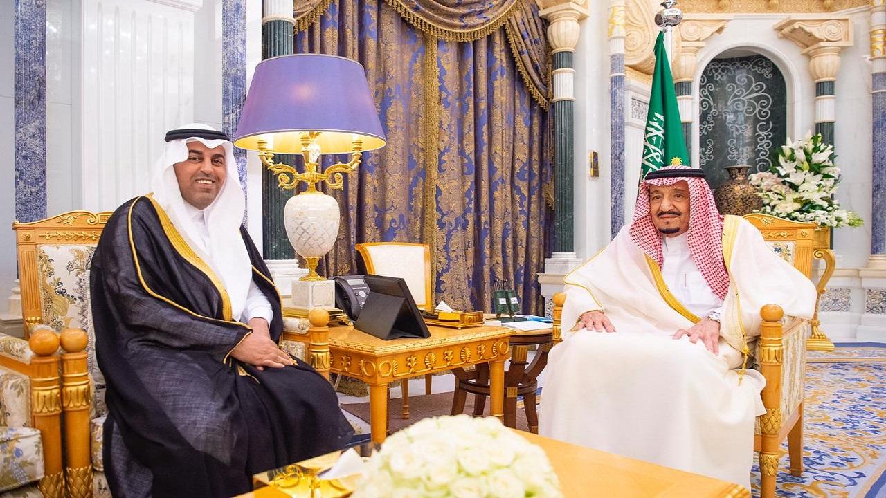 خادم الحرمين يستقبل رئيس البرلمان العربي بمناسبة انتخابه رئيسا لفترة ثانية