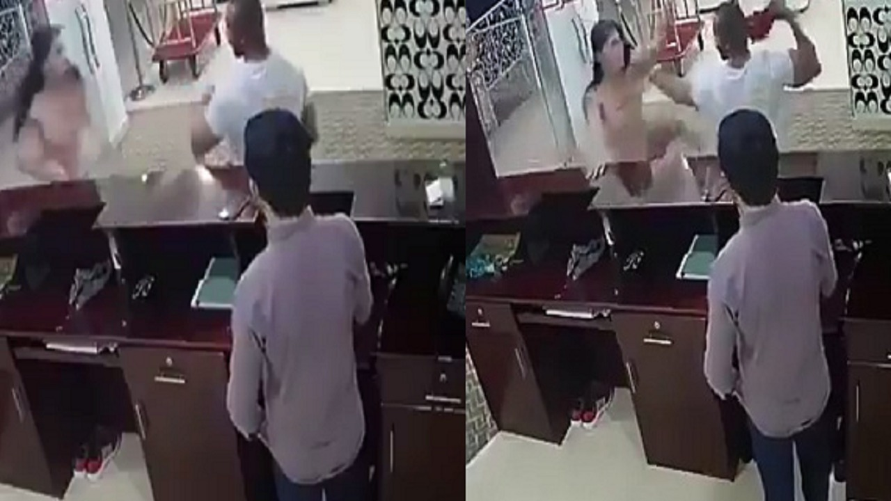بالفيديو.. رد فعل غير متوقع لفتاة حاول رجل مفتول العضلات الإعتداء عليها