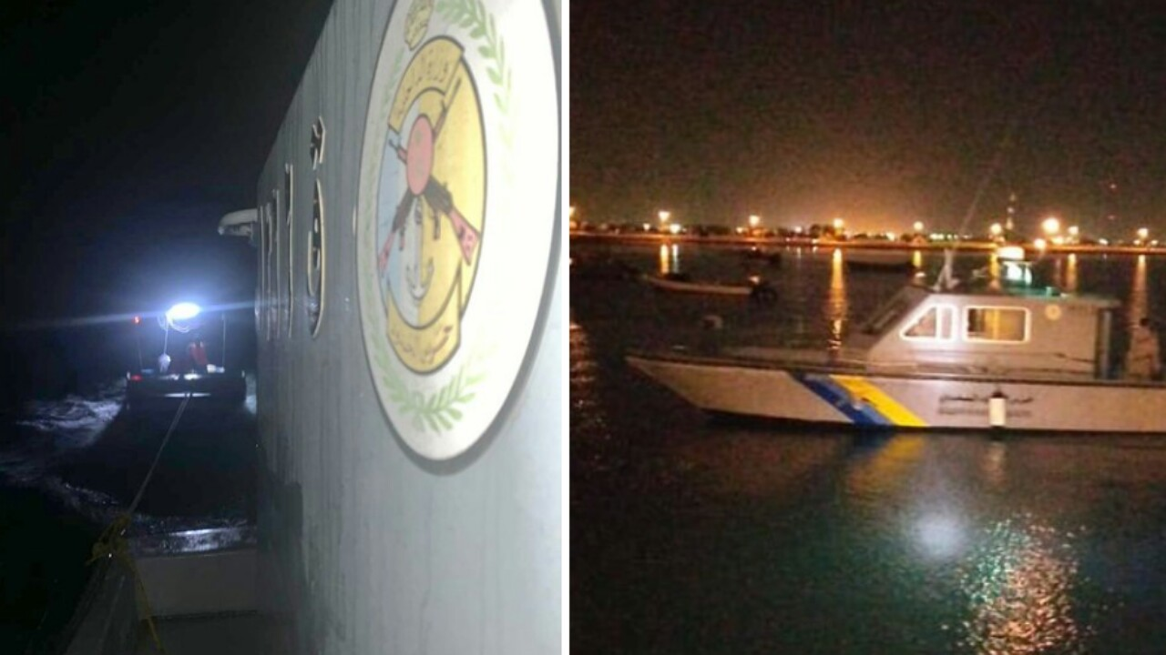 حرس الحدود بالمدينة ينقذ مقيمين تعطل قاربهما بعرض البحر (صور)